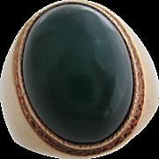Gentlemans 14kt Vintage chalcedony ring