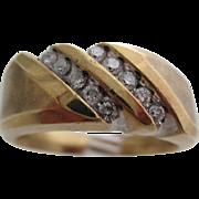 Gentlemans 10kt Vintage diamond ring.