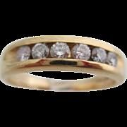 Gentlemans 14kt vintage diamond wedding band