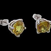 Ladies vintage 14kt yellow sapphire stud earrings.