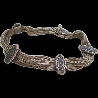 Ladies vintage sterling Niello bracelet.