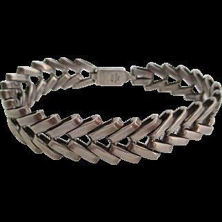 Gentlemans vintage sterling silver bracelet.