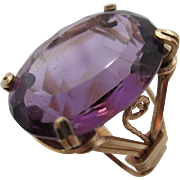 14kt Amethyst ladies cocktail ring