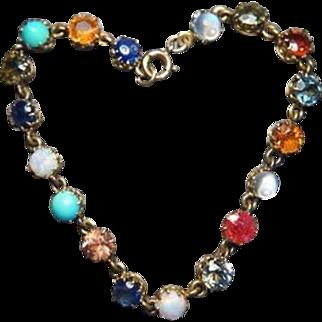 Victorian Beautiful Natural Multi-gemstone Bracelet