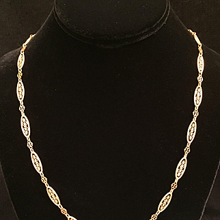 Antique French 18 Karat yellow gold chain