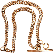 Victorian Rose gold 9K gold chain