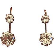 Victorian 9K gold and paste earrings