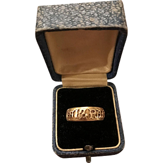Antique 18K Gold Edwardian Mizpah ring