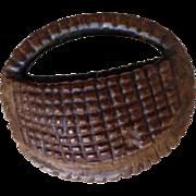Carved Fruit Pit  Miniature Basket Detailed!
