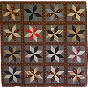 Quilt- Large Scale LeMoyne Star handmade country beauty