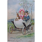 Easter Postcard Chicks & Child Parade