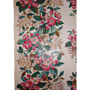 Old  glazed Chintz Fabric Border 2yd