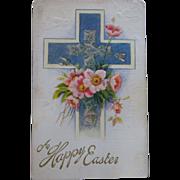 4 Old Easter Postcards - Religious Theme