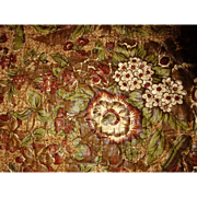 19th c. Chintz Whole Cloth Quilt- Birds and Flowers