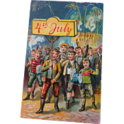 OLD Post Cards,  4th of July  2-cards