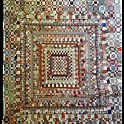 c.1850 Quilt TOP- 1000's of scraps MUSEUM
