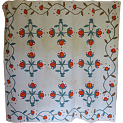 Quilt Mid 1800s Pomegranate Applique  A++ Quilting Stippling