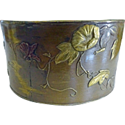 Japanese Mixed Metals Napkin Ring Birds, Bees, flowers