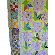 "Quilt TOP 30's Feed Sack ""Scrap Basket"""