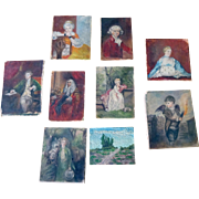 Antique Miniature Oil Paintings ..Portraits & Landscape