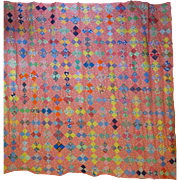 1930 Pure Feed Sack Quilt Top, unused