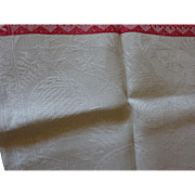 2items: Damask oriental runner and Damask pansy Tcloth