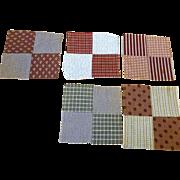 1800's 4-patch Quilt Blocks  5 blocks