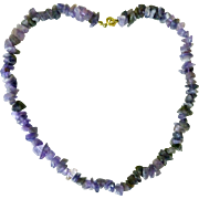 Amethyst Necklace Polished stones - 18-1/2""