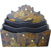 19th c. Chinese Lacquer Letter holder  near mint