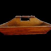 Old Pine Cutlery Box--New England Farm