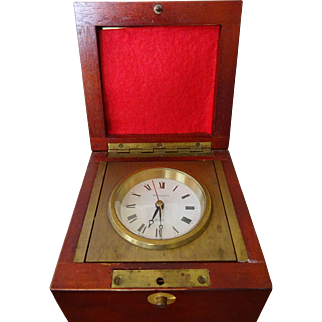 Tiffany and Co. Clock in Campaign wooden box