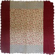 Antique Whole Cloth(s) Quilt c.1850 - Red Tag Sale Item