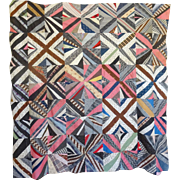 1860's Quilt TOP - String Pieced Unused