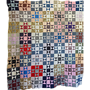 Quilt TOP Variable Star all different c1900