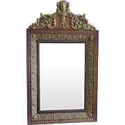 Victorian Mirror Repousse Medallion Angels-
