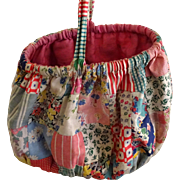 Patchwork 1930's Sewing Basket Great old prints