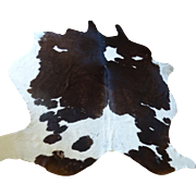 Cow Skin Rug ~ Black and White Holstein