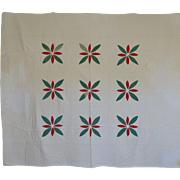 Quilt-  Red and Green Applique-