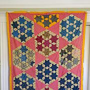 1800's Quilt TOP--7-Sisters --mint and Stunning