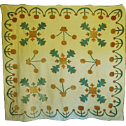 Quilt ~ Antique Applique--Oak Leafs and Acorns