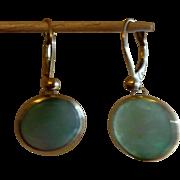 Jade / Jadeite Earrings  Dangle w 14k gold