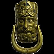 Door Knocker - Medallion Bearded Man  - Old