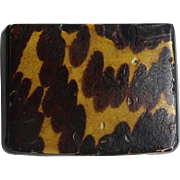 Old Snuff Box - Faux Tortoise shell