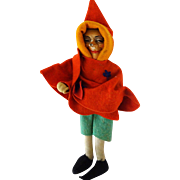 "Baitz Berlin Doll Sorcerer in a pointed hat 8-1/4"" Plaster / felt"
