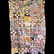 1800's Quilt TOP-- bizzy & scrappy Unused