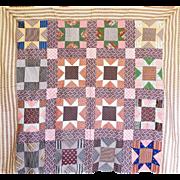 1800's Quilt TOP - Unused - Fab Calicos