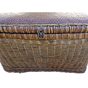 Antique Chinese Basket Storage Trunk