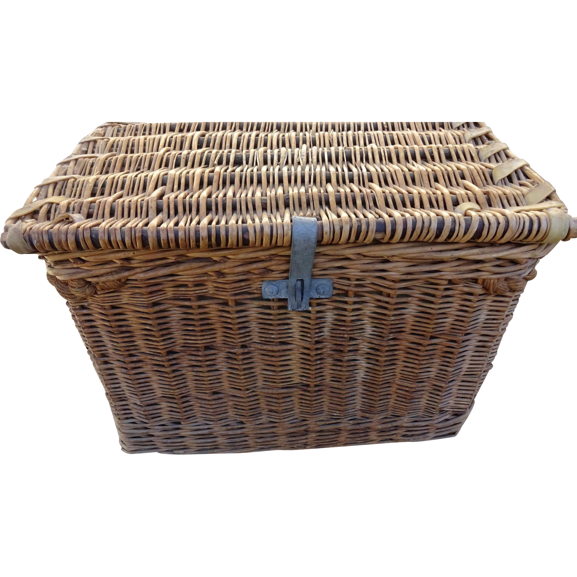 Auto Antique Wicker Trunks : Antique wicker steamer trunk french from