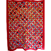 Quilt- 1930's Beautiful Bright Feed Sacks -total ZING!