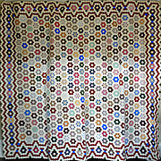Quilt 19th c Mosaic MINT - Extraordinary - Museum